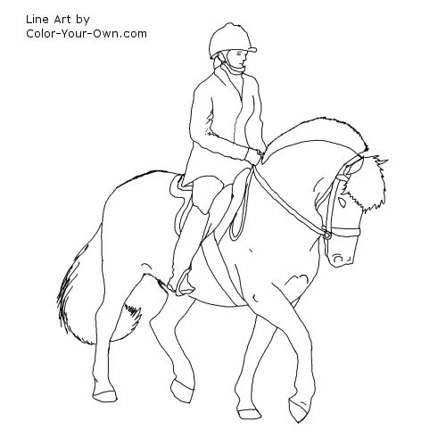 Dressage Horse Drawing at GetDrawings.com | Free for personal use ...