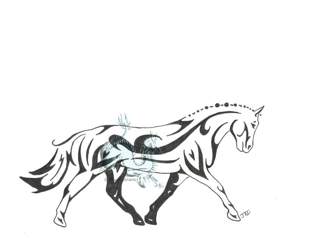 1021x782 Tribal Dressage Horse By Neodragonarts
