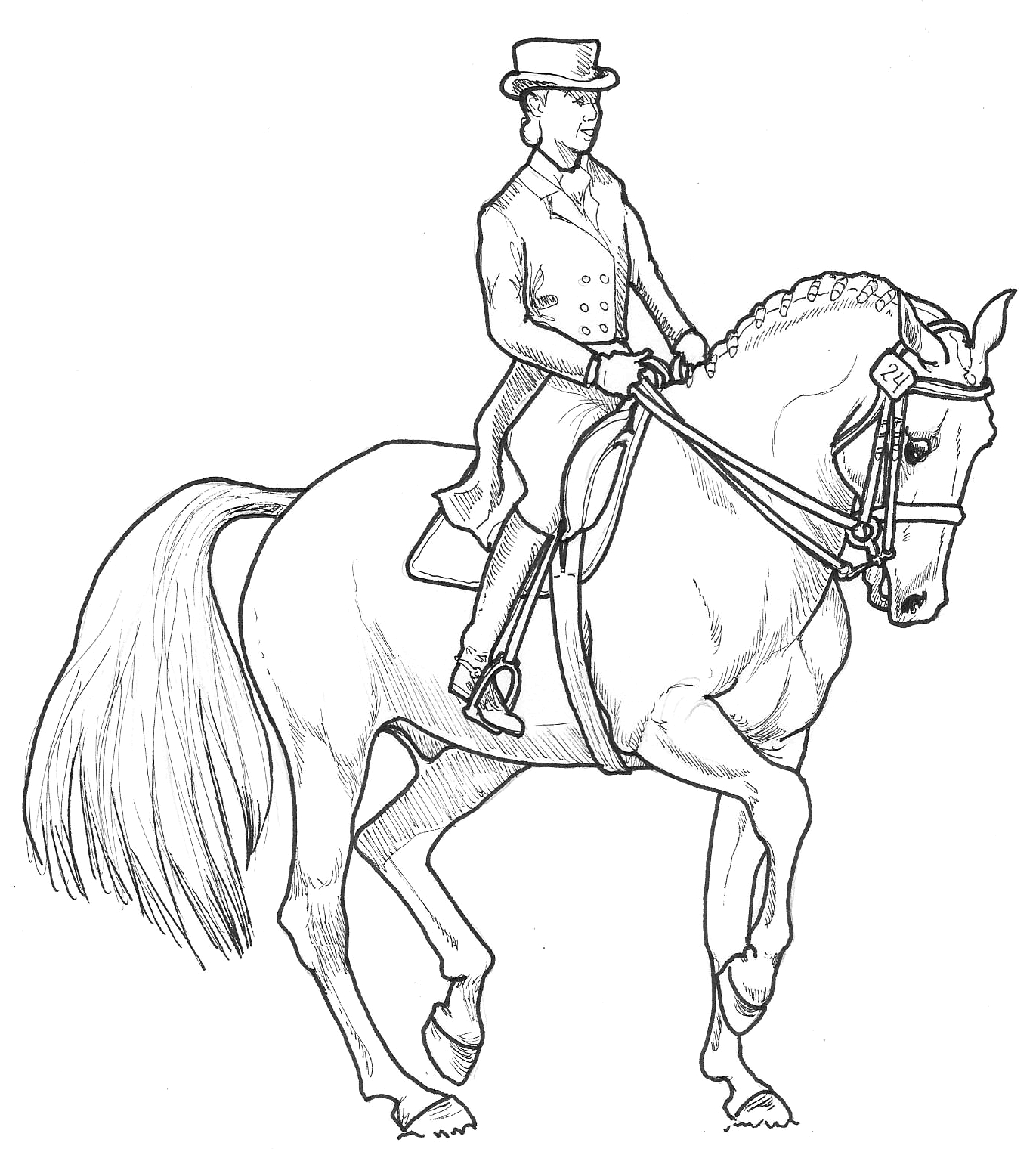 eventing coloring pages - photo#2
