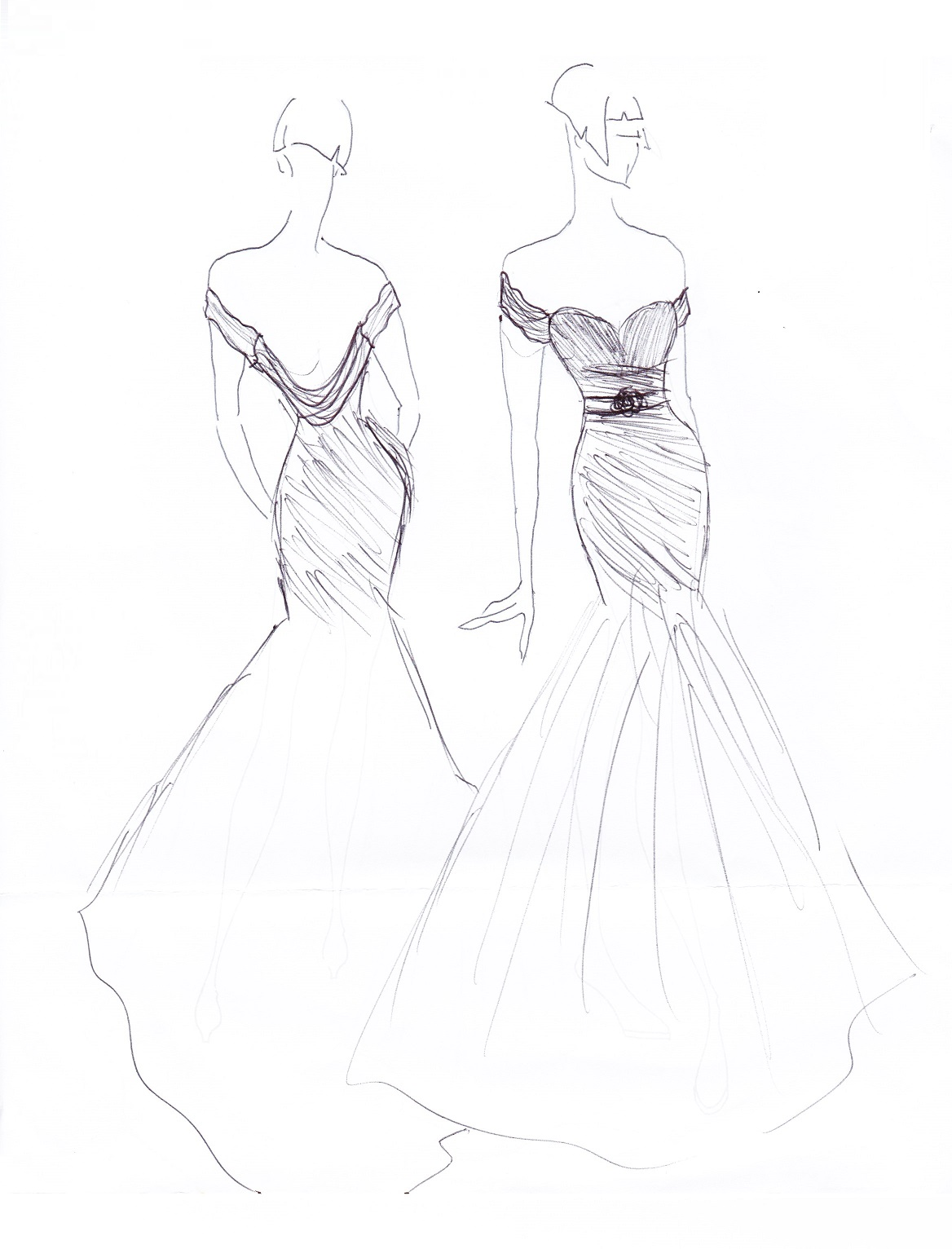 Dresses Drawing