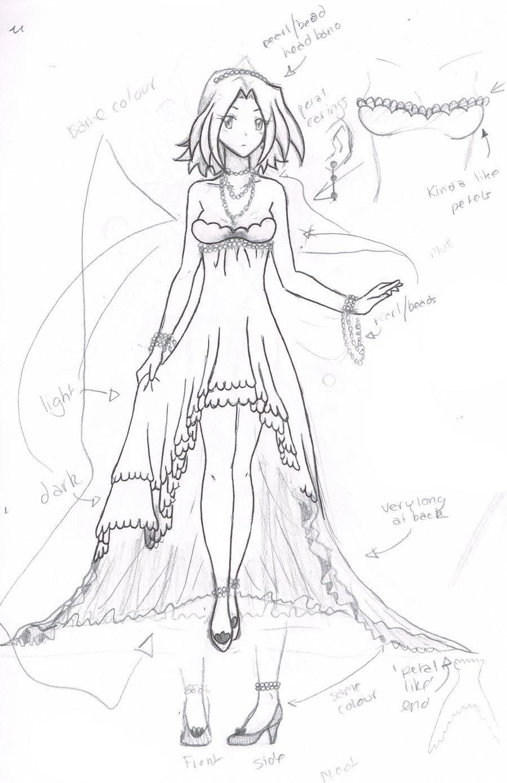 900x1389 Anime Dress Drawing Anime Dress Drawing Best Drawing Anime