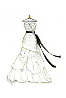 211x316 Wedding Dress Drawing Sketch. Best Royalty Wedding Dress Design