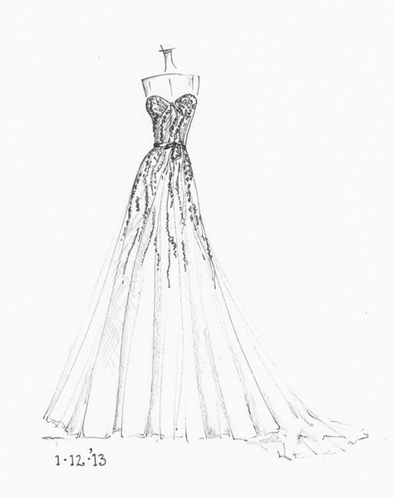 809x1024 Wedding Dresses Drawings Regarding Your Home Preowned Wedding