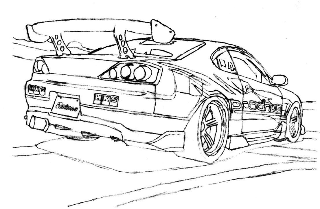 drift car drawing at getdrawings com
