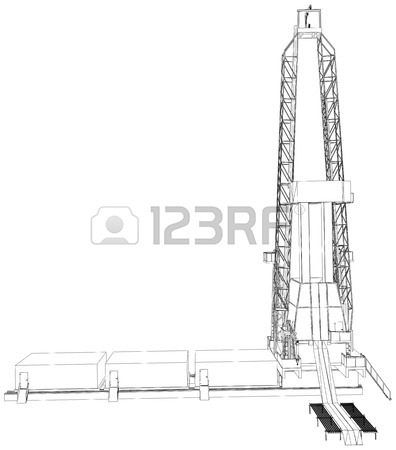396x450 Engineering Drawing Drive Submersible Oil Pump Plunger Vector