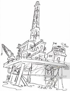 Drilling Rig Drawing At Getdrawings Com Free For