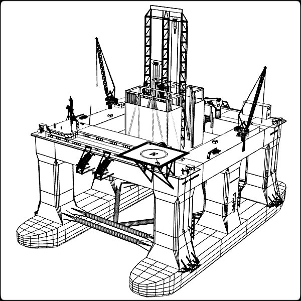 Drilling Rig Drawing At Getdrawings Com