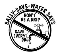 211x190 Sally Save Water Says Don'T Be A Drip Save Every Drop Trademark