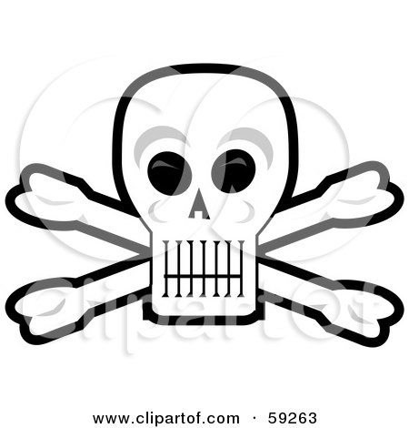 450x470 Clipart Illustration Of A Creepy Human Skull With Glowing Red Eyes