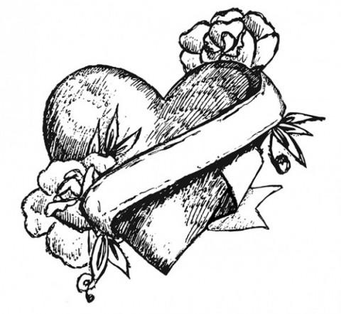 480x442 Hearts Dripping Blood The Tattooed Heart