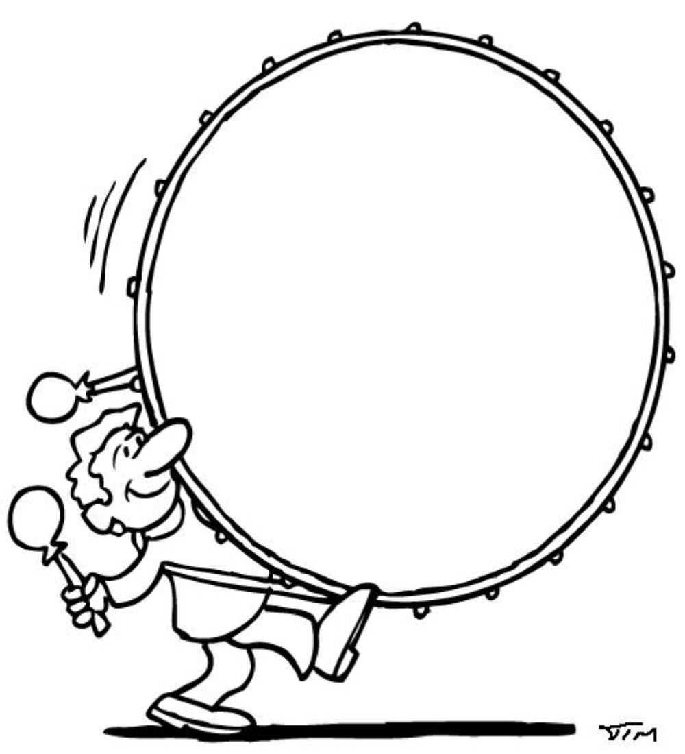 Drum Line Drawing