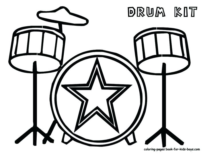 715x553 Drum Coloring Page 49 Packed With Pin Drawn Instrument Drum Set
