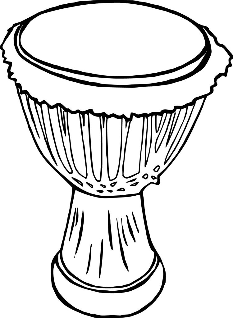 Drum line drawing at free for personal for Drum coloring pages
