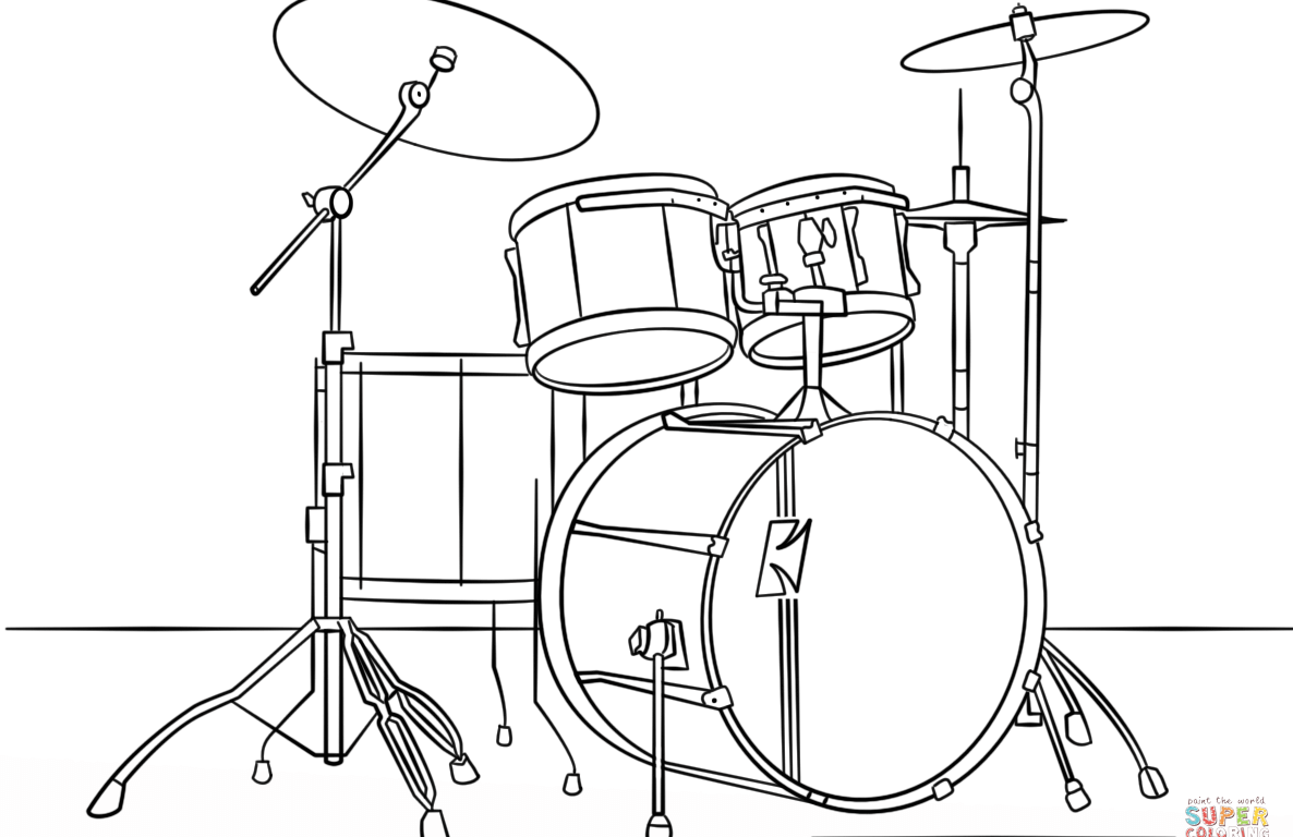 1186x768 Drawn Instrument Snare Drum For Marcing Band Free Printable