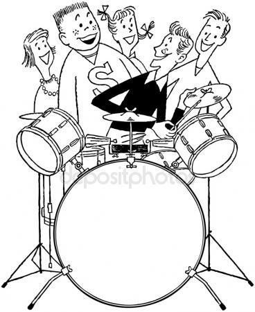 368x450 Drum Set Stock Vectors, Royalty Free Drum Set Illustrations