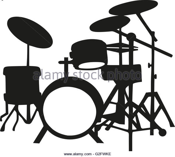 601x540 Drums Kit Silhouette Stock Photos Amp Drums Kit Silhouette Stock