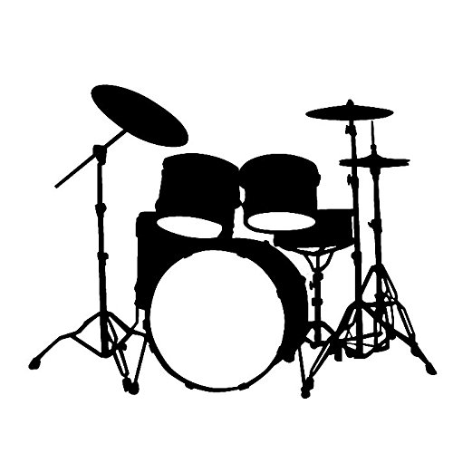500x500 Custom Drum Set Silhouette Vinyl Decal Sticker A Silhoette Files