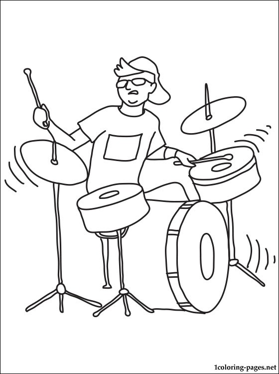 560x750 Drummer Coloring Page Coloring Pages