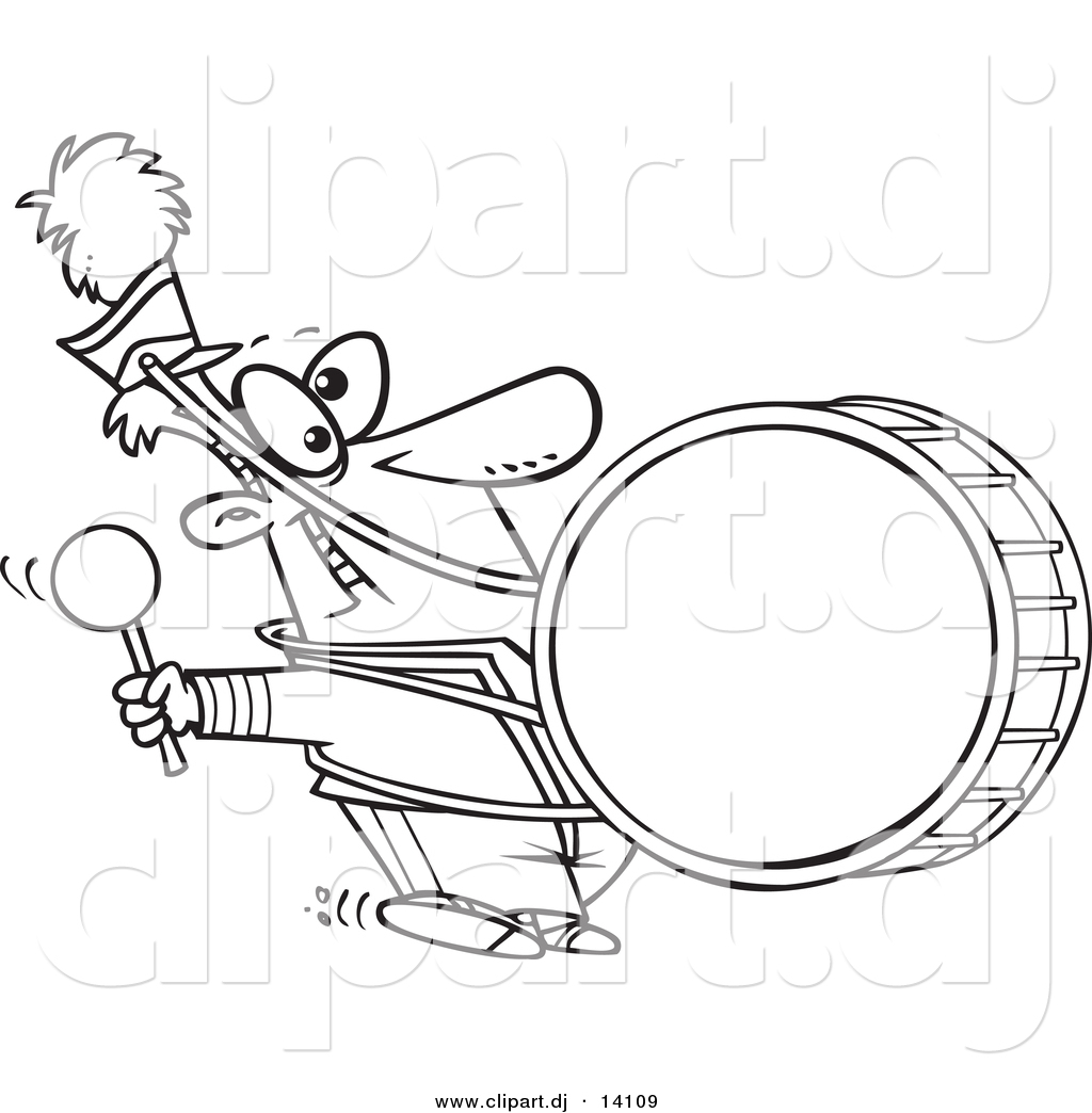 1024x1044 Vector Of Cartoon Marching Band Drummer
