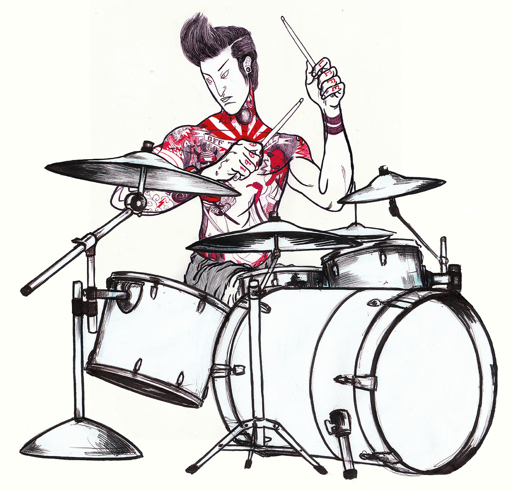 1024x981 Drummer Fourth In Series Of Illustrationsbout
