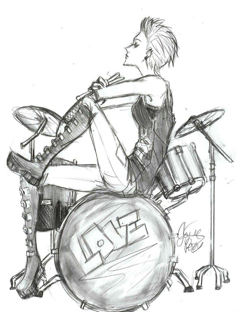 777x1028 Drummer Girl By Kirakyuuketsuki