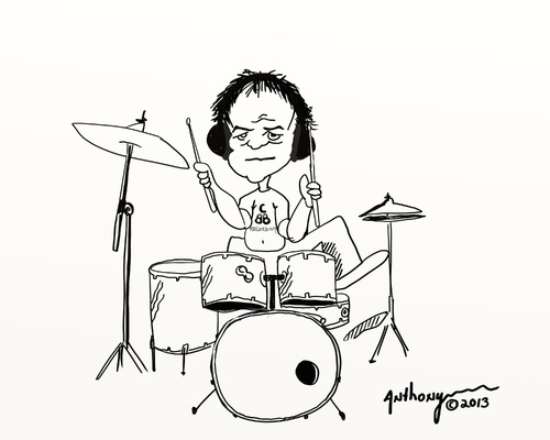 500x400 Dave The Drummer By Tonyp Famous People Cartoon Toonpool