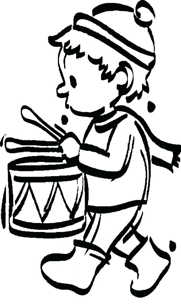 600x1008 Drum Coloring Page As Stunning Drummer Boy Concentrate Beating