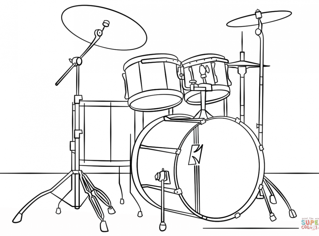 Drums Drawing At Free For Personal Use Snare Drum Diagram 1080x800 Drawn Instrument Marcing Band Printable