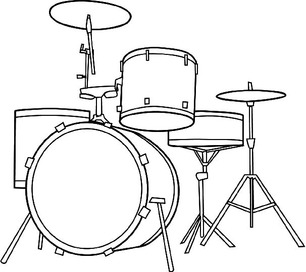 606x540 Drum Set Coloring Pages Drum Cakes Drum Sets