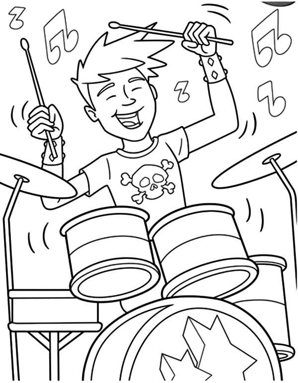 Drumset Drawing