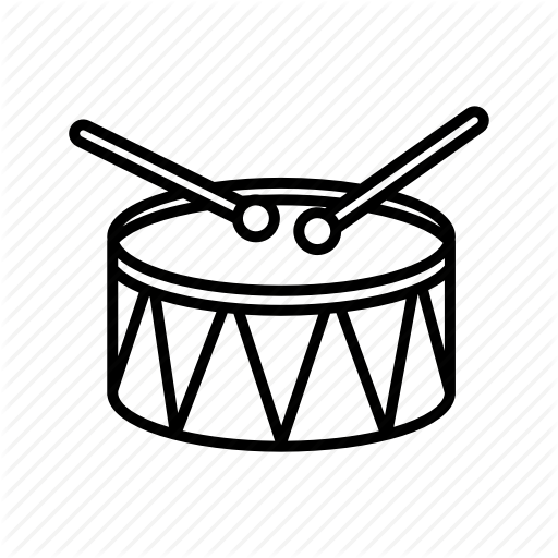 512x512 Drum, Drumsticks, Musical Instrument, Orchestra, Percussion Icon