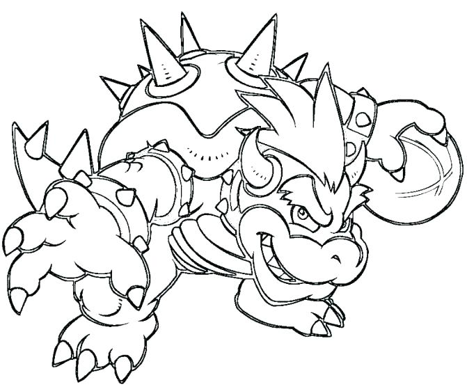 671x559 dry bowser coloring pages 369 - Bowser Coloring Page