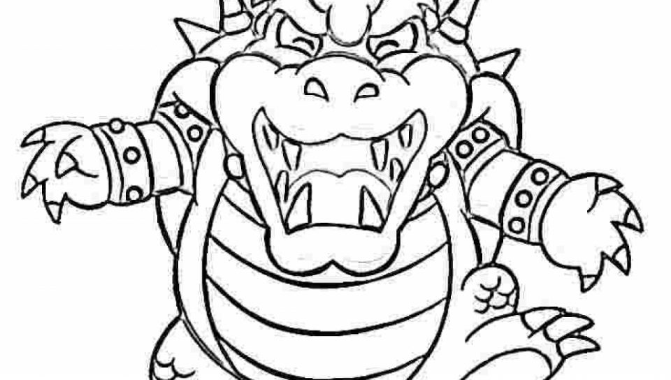 960x544 Dry Bowser Coloring Pages Super Mario Character And General Jr