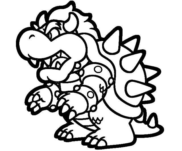 640x533 big bowser coloring pages character jozztweet - Bowser Coloring Page