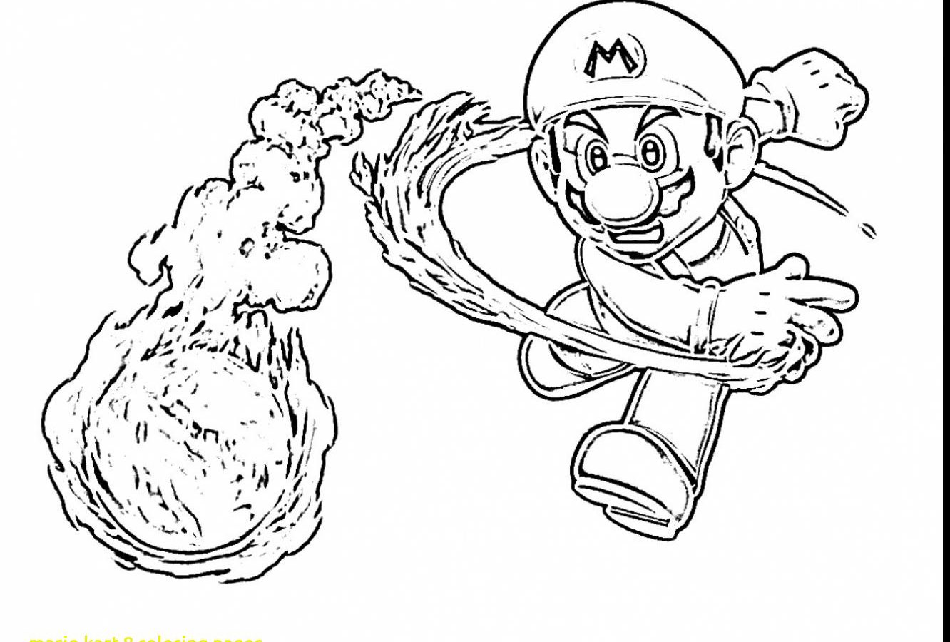 1332x900 Super Coloring Page Mario Kart Colouring Pages To Print Bros