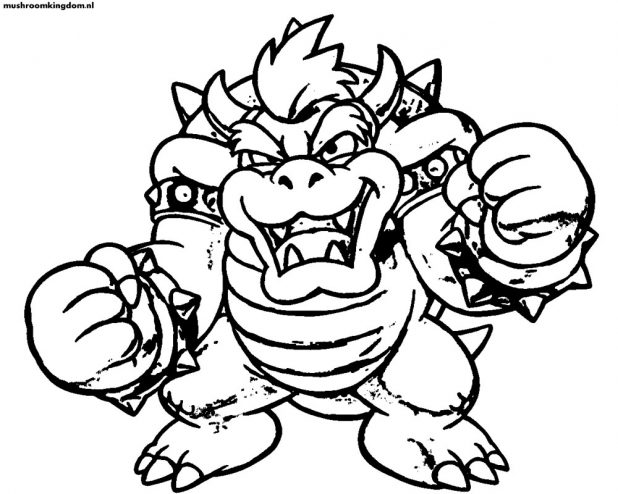 618x494 Adult Bowser Coloring Pages Bowser Coloring Pages To Print. Mario