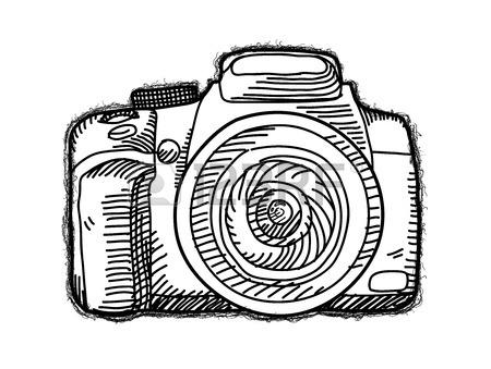 450x339 Dslr Camera, A Hand Drawn Vector Illustration Of A Dslr Camera