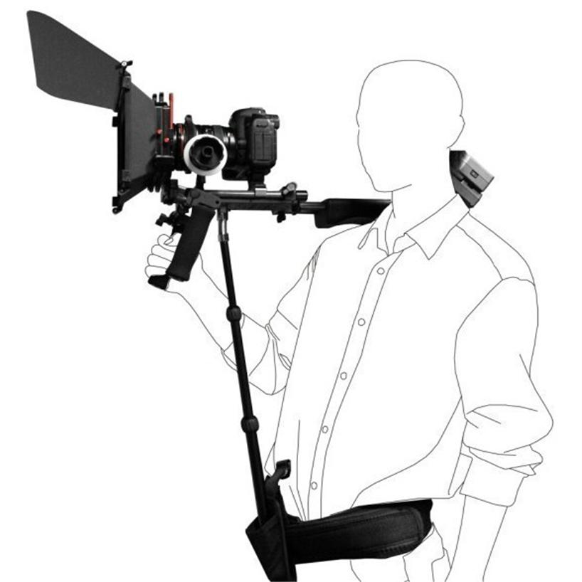 818x818 Dslr Rig Support Rod Belt Fit Shoulder Mount Video Camcorder