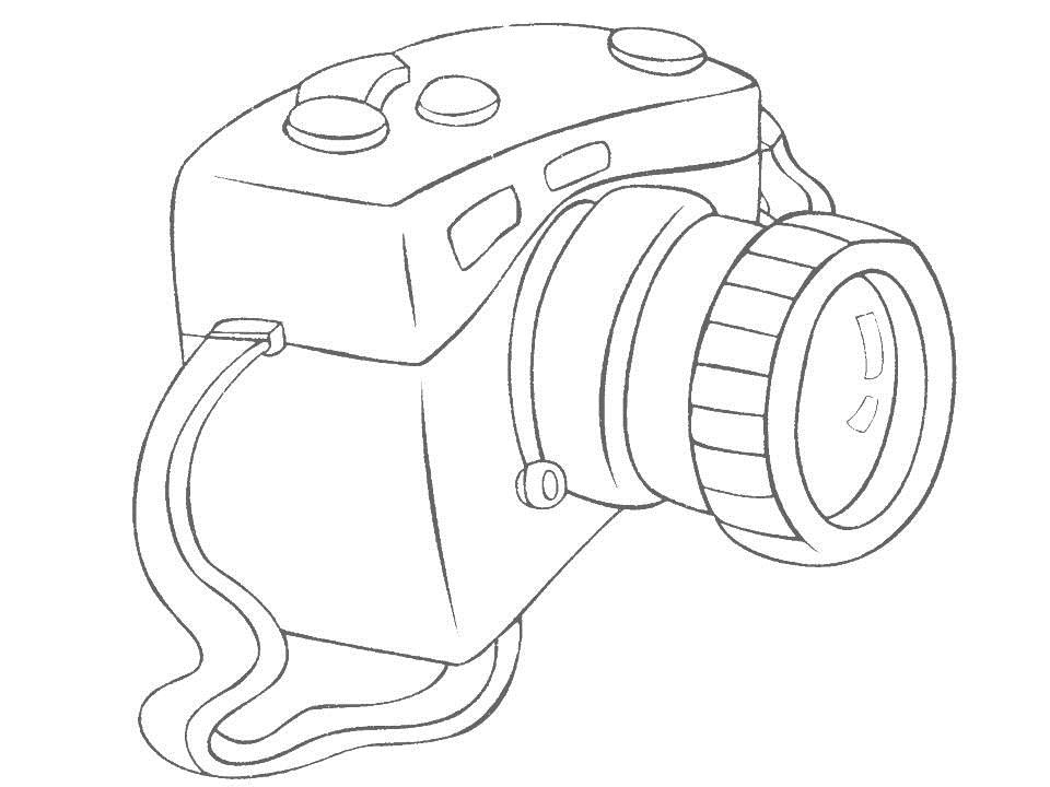 960x720 Dslr Camera Coloring Page Boys Pages