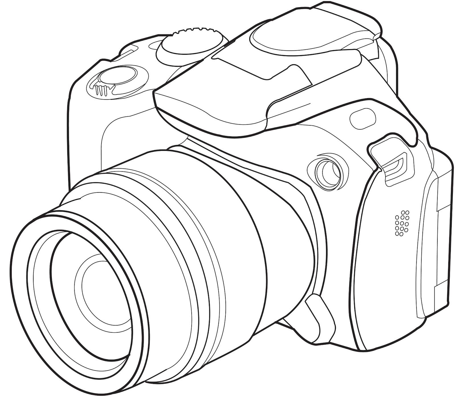 1600x1427 Image Result For Camera Lsr Line Drawing Nikon Dslr