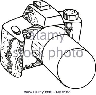324x320 Camera Slr Dslr Vector Illustration From Front And Top View Stock