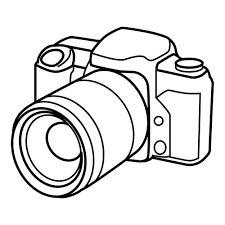 225x225 Hand Sketch Drawing Illustration Of A Digital Slr Camera. Drawing