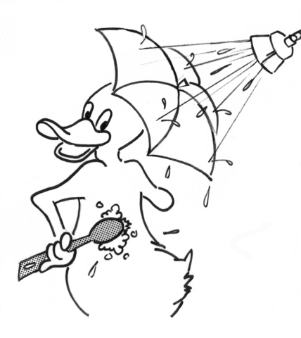 428x480 Cartoon Duck In Shower Coloring Page Free Printable Coloring Pages