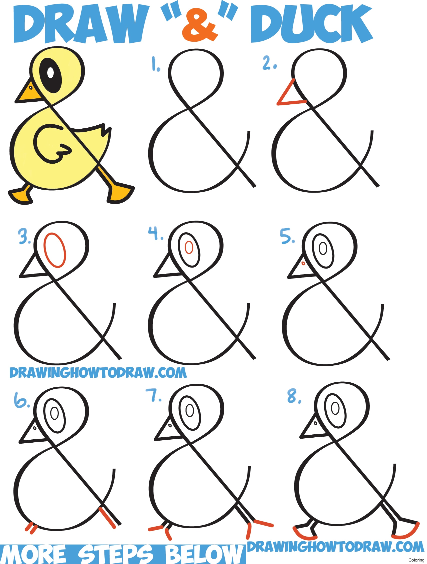 1708x2258 Step By Art For Kids Drawing Ideas How To Draw A Duck Coloring