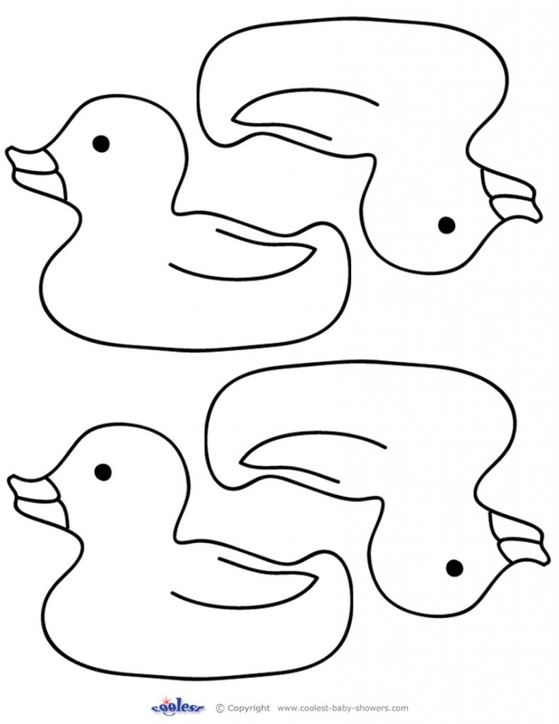 791x1024 How To Draw Rubber Duck Kids Learn Drawing Coloring Printable