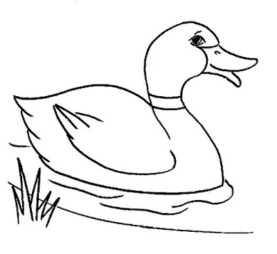 400x367 Marvellous Inspiration Duck Outline Of A Coloring Page Free