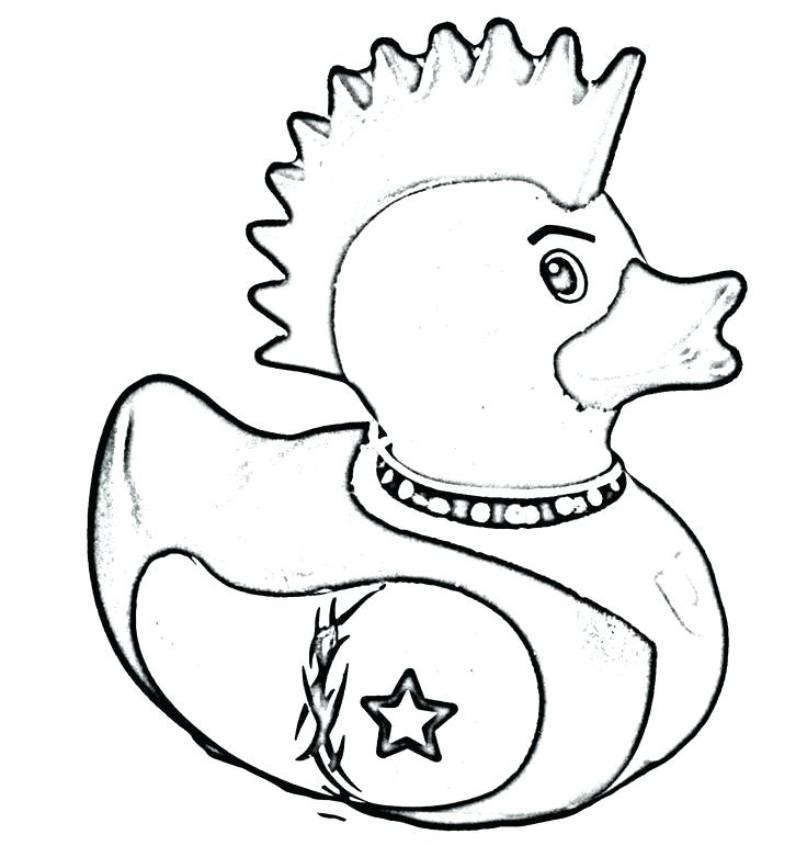 736x781 Rubber Ducky Coloring Page Rubber Duck Outline Drawing Blank