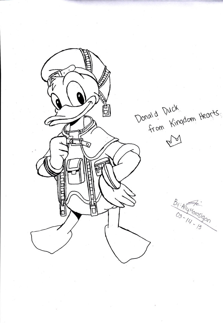 743x1076 Donald Duck Drawing By Ilovedrawingkh