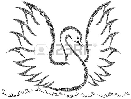 450x338 Swan Drawing Stock Photos. Royalty Free Business Images