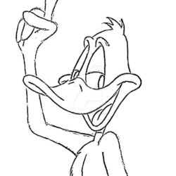 250x250 Daffy Duck Drawing, Pencil, Sketch, Colorful, Realistic Art Images